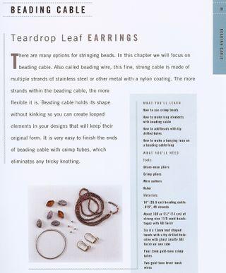 How to make beaded teardrop