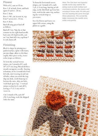 Plaid knit placemats pattern