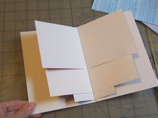 Sewn scrap paper card notebook
