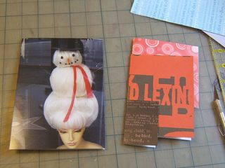 Recycle christmas card journal book