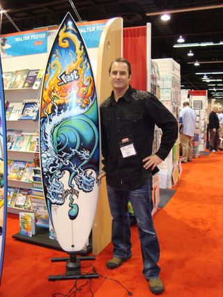 Drew brophy how to paint surf board