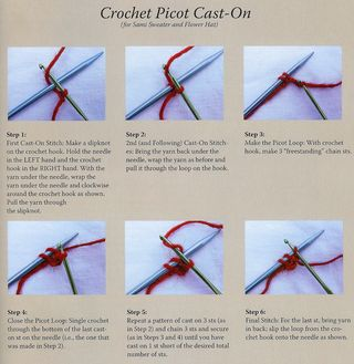 How to crochet picot cast-on