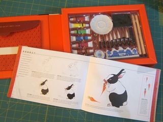 How to paint a rabbit bunny carrot