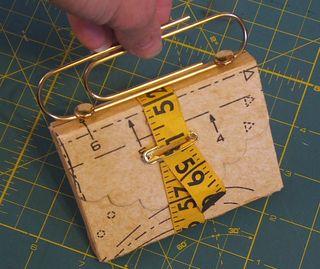Sewing pattern paper decupage box