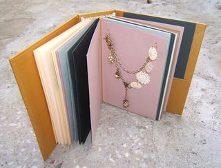 Jewelry gift cards in Card Album display