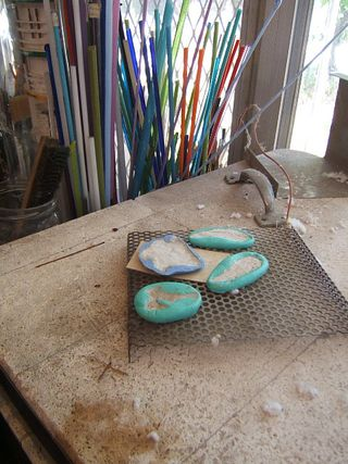Pmc drying in mold on top kiln