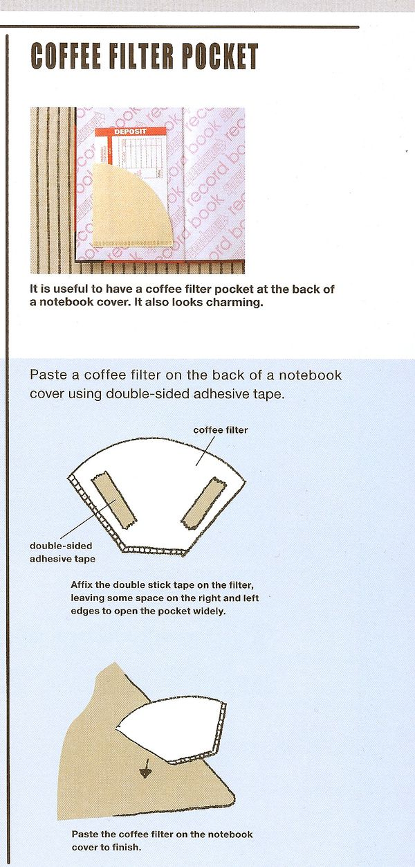 Craftside How To Make Coffee Filter Pockets From The Cool