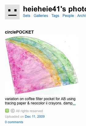 Coffee filter pocket multi color