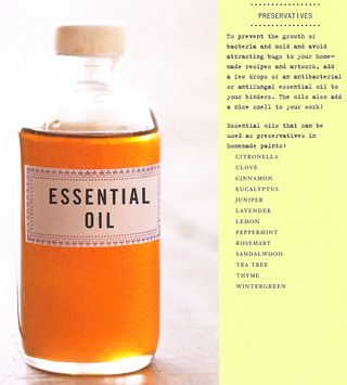 Why essential oils are added to paint