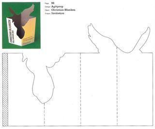 Pop up bird card pattern