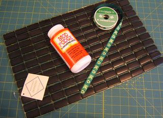 Placemat mod podge ribbon jewelry