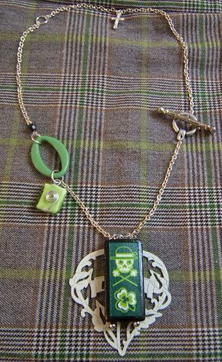 St patrick's day necklace