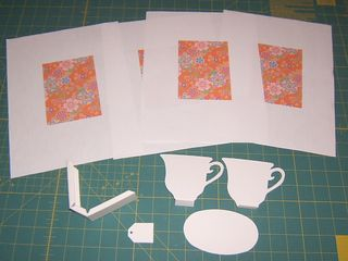 Floral teacup sizzix die cover