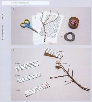 How to make flowers from book