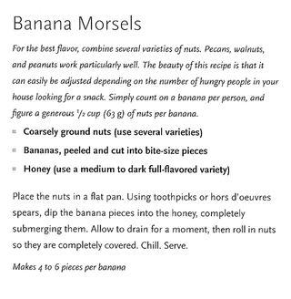Honey banana nut snack recipe
