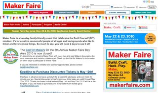 Craftside at Maker Faire May 22 23