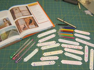 Sizzix die cut bow with words