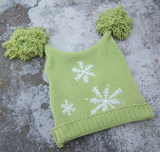 Recycled sweater hat curly pom poms