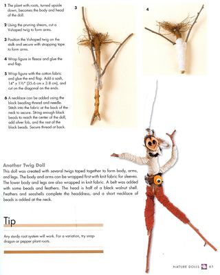 How to make a doll from nature