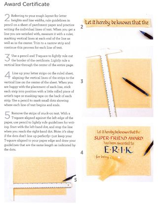 How to draw an award certificate