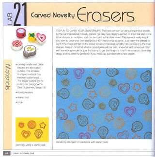 How to make a rubber stamp eraser