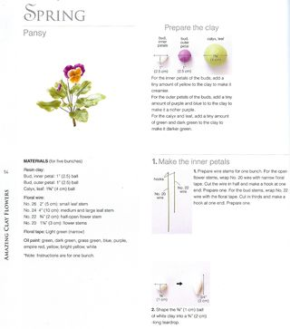How to make a clay pansy