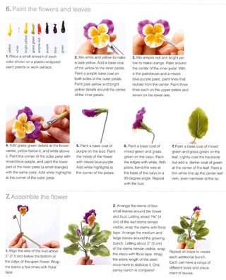 How to paint a sculpted pansy