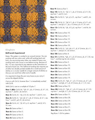 Knit plaid pattern check two color