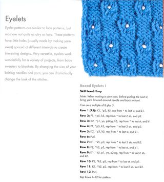 How to knit a boxed eyelet pattern
