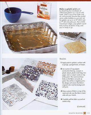 Print fabric with gelatin
