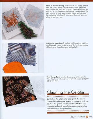 Making a gelatin print stam