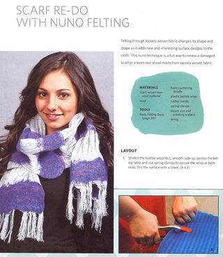 Scarf re-do with nuno felting