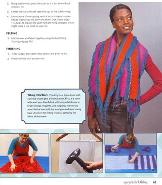 How to recycle scarf with nuno felting