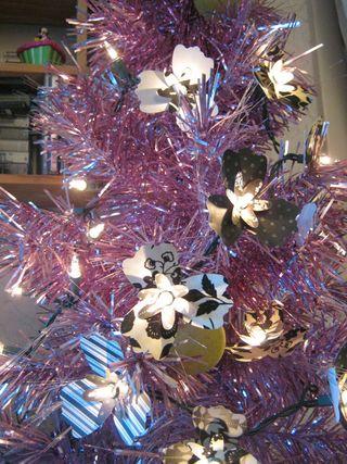 Paper flower christmas light surrounds