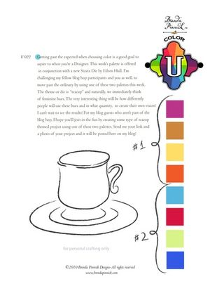 Color picts for tea cup