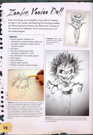How to draw a zombie voodoo doll