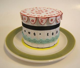 Cake sizzix die cut eat it too