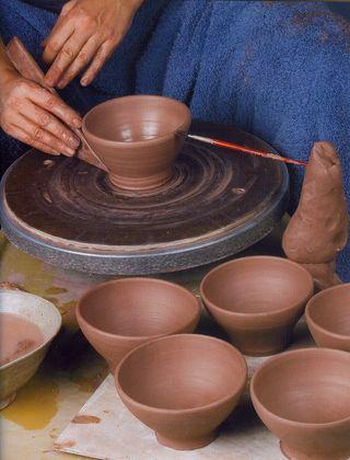 Throwing clay pot tip multi