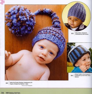 Giant pom pom knit baby hat