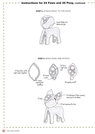 How to sew a fawn deer softie