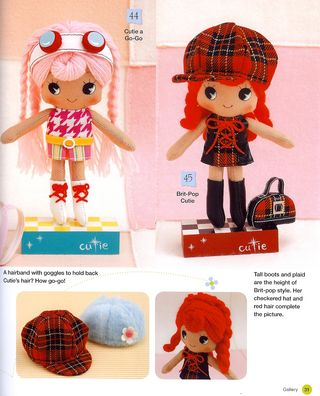 Doll plushie softie plaid bag pattern