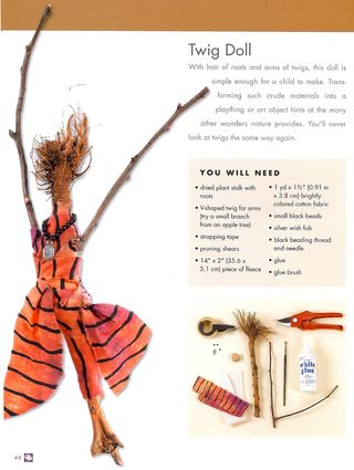 How to make a twig doll