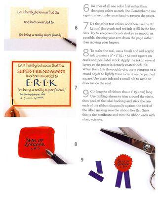 How to make calligraphy award name