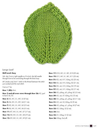 Free knit leaf pattern coaster