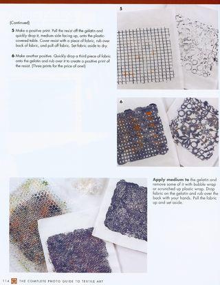Diy gelatin prints fabric