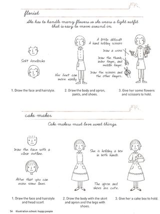 How to draw cute little ladies
