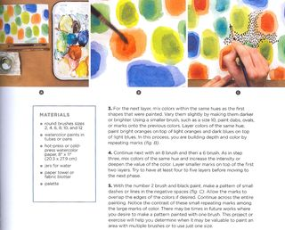 How to paint different size dots