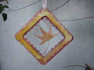 Sizzix frame die cut window leaf