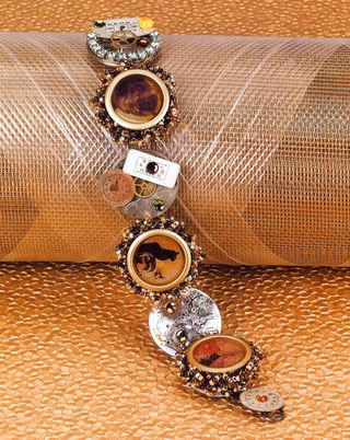 How to make a hardware steampunk bracelet