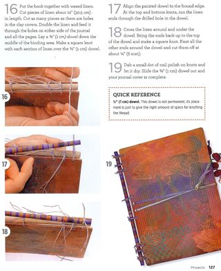 How to make a stick bound journal